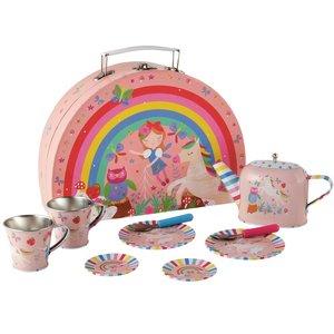 Floss & Rock 10 Piece - Rainbow Fairy Tin Tea Set