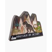 Floss & Rock 80 Piece - Dinosaur Jigsaw Puzzle (in shaped box)