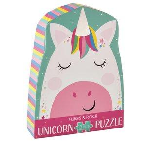 Floss & Rock Rainbow Unicorn - 12 Piece Shaped Jigsaw Puzzle  (in shaped box)