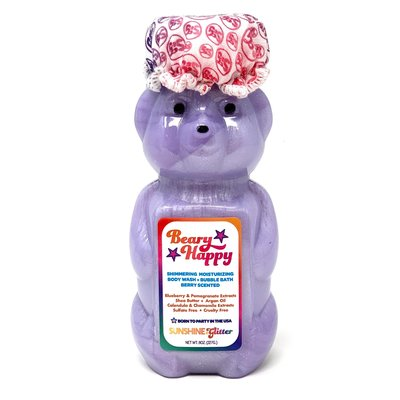 Sunshine & Glitter Beary Happy Shimmering Body Wash and Bubble Bath (8 oz Bear Bottle)