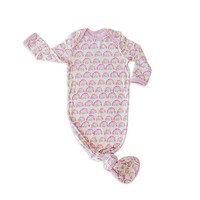 Little Sleepies Pastel Rainbow - Bamboo Infant Knotted Gown