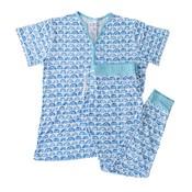 Little Sleepies Blue Rainbow - Two-Piece Women's Bamboo Pajama Set