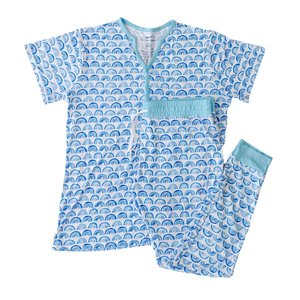 Little Sleepies Blue Rainbow - Two-Piece Women's Bamboo Pajama Set