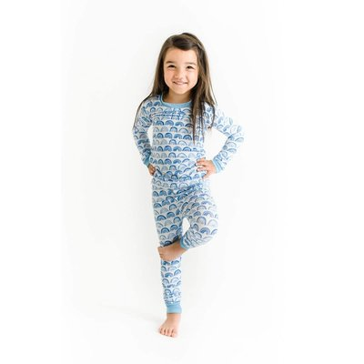 Little Sleepies Blue Rainbow - Bamboo Two-Piece Pajama Set