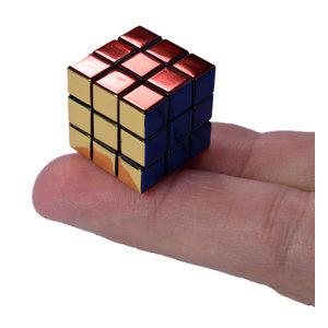 Super Impulse World's Smallest 40th Anniversary Metallic Rubik's Cube