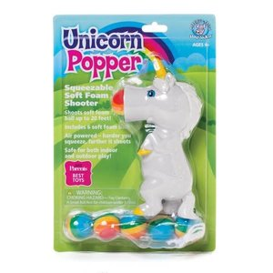 Universal Specialties Unicorn Popper - Squeezable Soft Foam Shooter