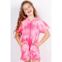 Candy Pink Pink Tie Dye Romper
