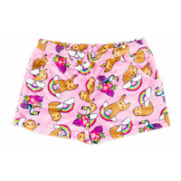 Candy Pink Sloth Shorts
