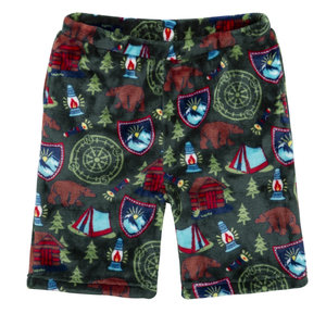 Candy Pink Green Camping Shorts