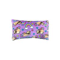 Candy Pink Pugicorn Rectangle Pillow