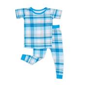 Little Sleepies Blueberry Plaid - 2-Piece Short Sleeve Pajama Set