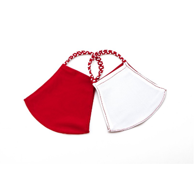 Pomchies 2 pack of Reusable Face masks - Solid Crimson & Half Crimson/Half White (Ages 6-Adult) FINAL SALE