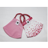 Pomchies 2 pack of Reusable Face masks - Hearts Print & Solid Light Pink (Ages 6-Adult)