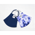 Pomchies 2 pack of Reusable Face masks - Indigo Tie Dye Print & Navy Solid (Ages 6-Adult)