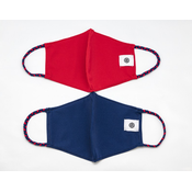 Pomchies 2 pack of Reusable Face masks - Solid Navy & Solid Red (Ages 6-Adult) FINAL SALE