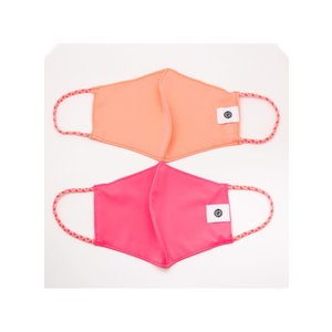 Pomchies 2 pack of Reusable Face masks - Solid Peach & Solid Summer Pink (Ages 6-Adult)