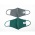Pomchies 2 pack of Reusable Face masks - Solid Hunter Green & Solid Grey (Ages 6-Adult)