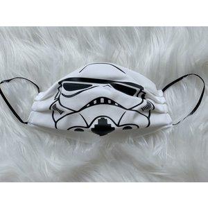 Sugar & Spice Star Wars Storm Trooper (White) Gathered Face Mask (Kids 4-12)