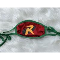 Sugar & Spice Robin Superhero Face Mask (ties) (Kids Ages 4-12)