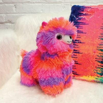 Fashion Angels Alpaca Plush - Small - Neon Pink, Peach & Purple