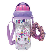 Hot Focus Water Bottle with Shoulder Strap - Caticorn