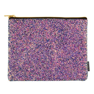 Fashion Angels Chunky Glitter Pouch - Midnight