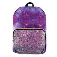 Fashion Angels Marble Velvet/Chunky Glitter Backpack