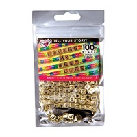 Fashion Angels Tell Your Story Alphabet  Bead Bag - Gold Cubes