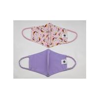Pomchies 2 pack of Reusable Face masks - Unicorns & Solid Lavender  (Ages 6-Adult) FINAL SALE
