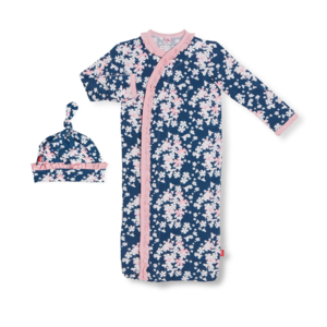 Magnetic Me Aberdeen Modal Magnetic Gown + Hat - NB-3M