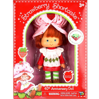 "Schylling 6"" Retro Strawberry Shortcake Doll (40th Anniversary Edition)"