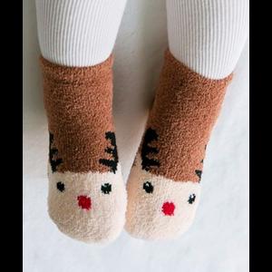Explanet Enterprise Fuzzy Fur Anti-Skid Socks - Rudolph