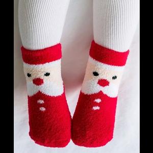 Explanet Enterprise Fuzzy Fur Anti-Skid Socks - Santa