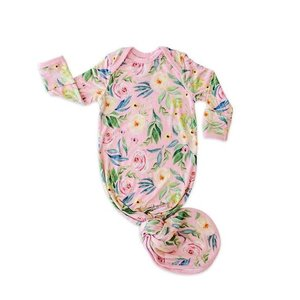 Little Sleepies Alexandra Floral Bamboo Viscose Infant Knotted Gown