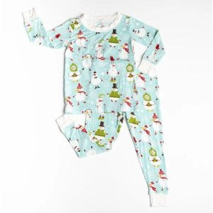 Little Sleepies Snowman - Two-Piece Bamboo Pajama Set