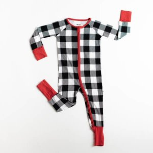 Little Sleepies Buffalo Plaid - Bamboo Zippie Pajamas