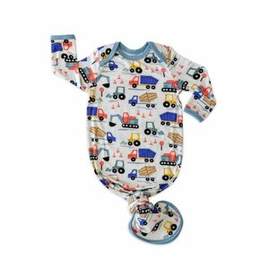 Little Sleepies Construction - Bamboo Viscose Infant Knotted Gown