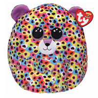 """Ty 12"""" Leopard Squish-a-Boos (Giselelle) Plush Stuffed Animal"""