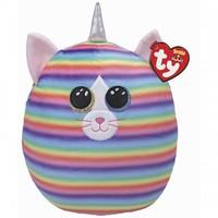 "Ty 12"" Cat Squish-a-Boos (Heather) Plush Stuffed Animal"