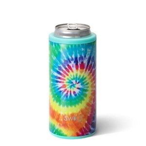Swig 12 oz - Skinny Can Cooler - Swirled Peace Tie Dye