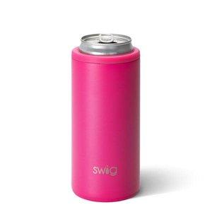 Swig 12 oz - Skinny Can Cooler - Matte Hot Pink