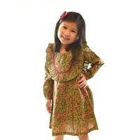 Yo Baby Green Floral Cotton Dress