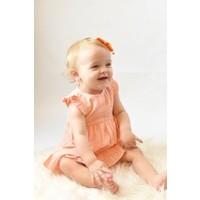 Yo Baby Orange Stripe Cotton Dress