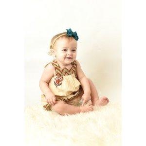 Yo Baby Beige Floral Cotton Dress