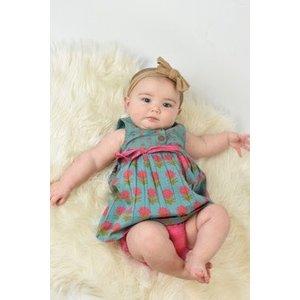 Yo Baby Blue Cotton Floral Dress