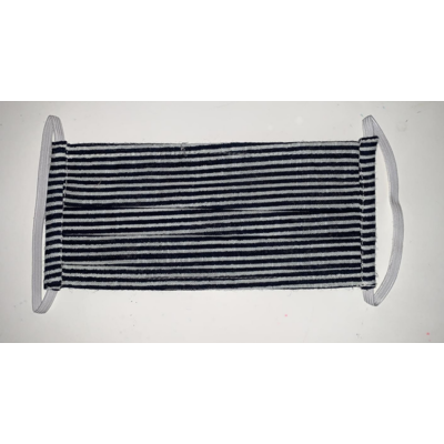 Yo Baby Black and White Striped Cloth Adult Mask