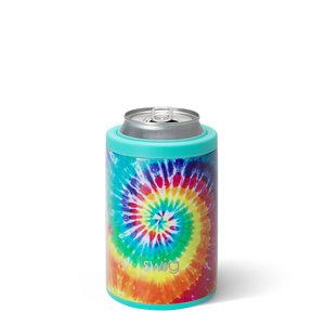 Swig 12 oz - Combo Can/Bottle Cooler - Swirled Peace Tie Dye
