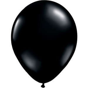 "Balloons.com 11"" - Latex Balloons - Black (with helium)"