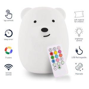 LumieWorld LumiPets - Bear Night Light with Remote