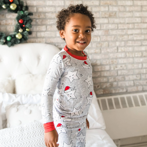Little Sleepies Sleepy Santa Stars - Two-Piece Bamboo Pajama Set